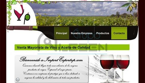 Diseño de WEB Corporativa de IMPORT EXPORT VP