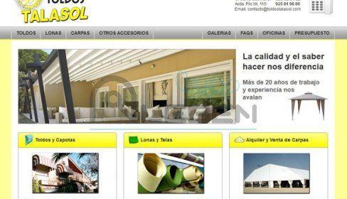 Desarrollo de WEB Corporativa de TOLDOS TALASOL