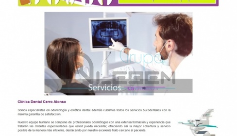 Página web y Blog para CLINICA DENTAL CERRO ALONSO