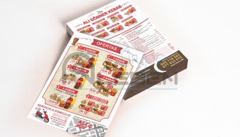 Diseño e Impresión de Folletos para Ali Kebab