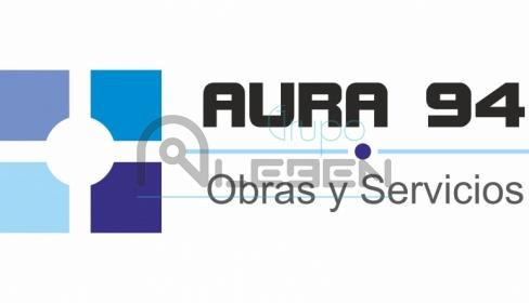 Diseño Logo Corporativo Aura 94 - Obras y Servicios