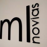 Diseño Logotipo ML Novias de PVC en Relieve para Pared