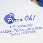 Papelería Corporativa de Pizza Oh!