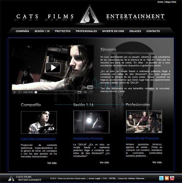 Desarrollo WEB Productora CATS FILMS ENTERTAINMENT