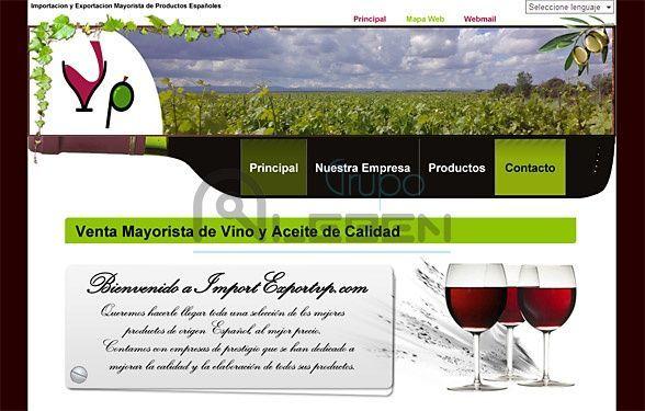 Diseño de WEB Corporativa de IMPORT EXPORT VP