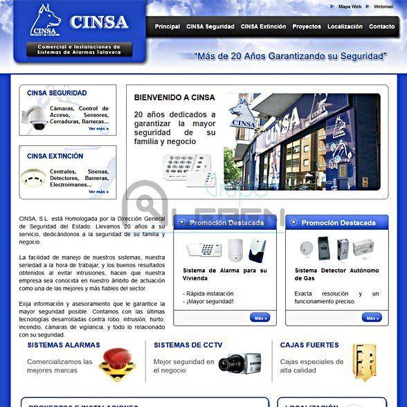 Desarrollo de la WEB Corporativa de CINSA Talavera
