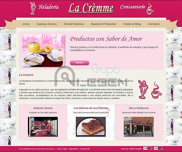Desarrollo WEB Corporativa Heladería LA CRÈMME