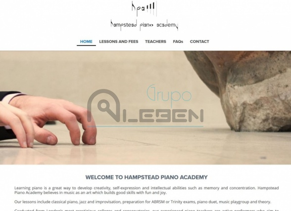 Página Web Corporativa para HAMPSTEAD PIANO ACADEMY