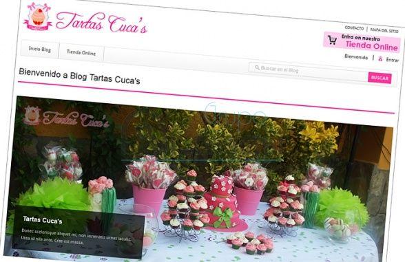 Tienda Online, Sistema de Ventas y Blog Tartas Cuca's