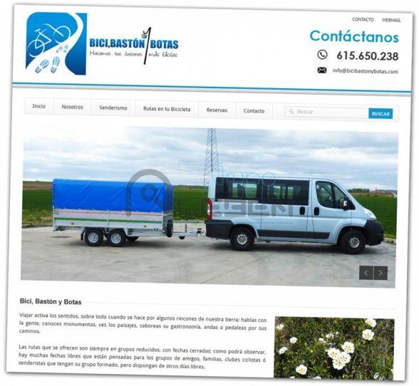 PÁGINA WEB de BICI, BASTÓN Y BOTAS. Rutas organizadas