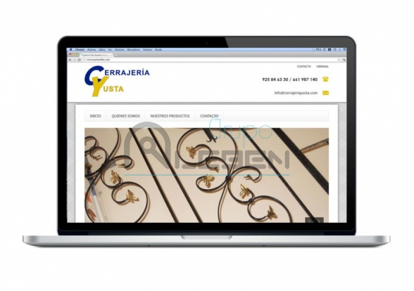 Pagina Web Corporativa para CERRAJERÍA YUSTA