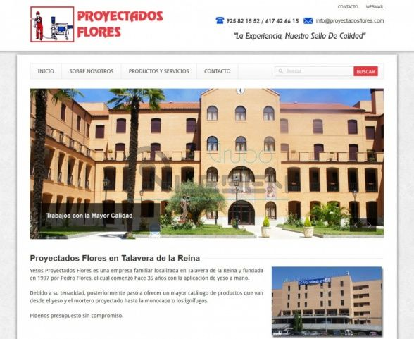 WEB Corporativa de YESOS PROYECTADOS FLORES