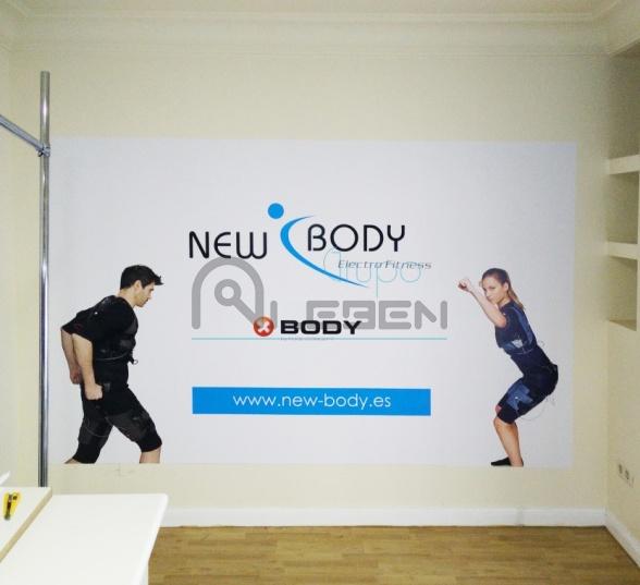 Dise o vinilos en pared para new body electrofitness - Vinilos de diseno ...