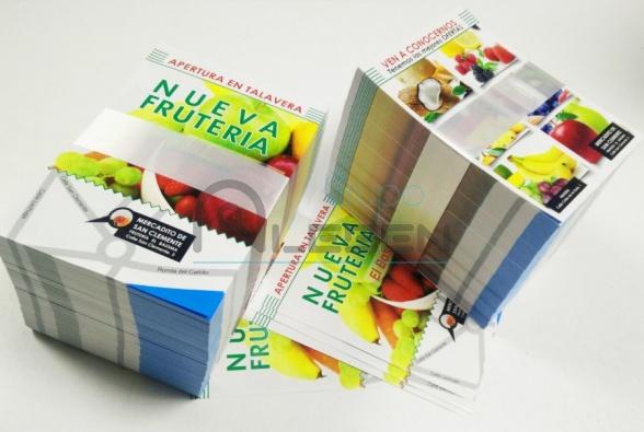 Diseño e Impresión de Folletos A6 para Frutería