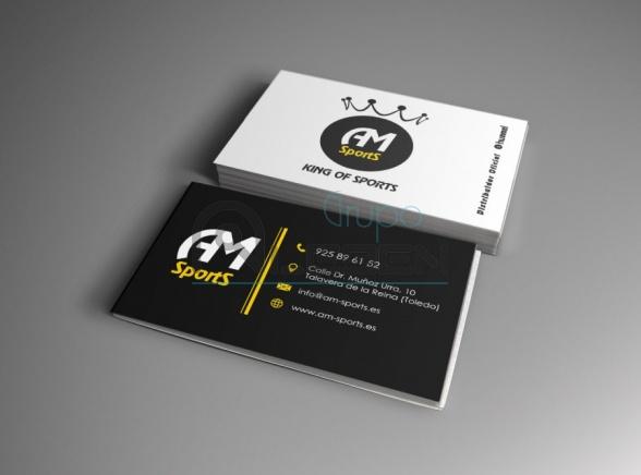 Diseño e Impresión de Tarjetas para AM Sports