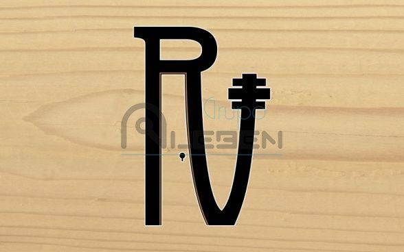 Diseño Logo Corporativo para la Empresa Puertas RV