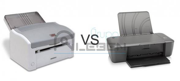 Impresoras Laser VS Inyeccion de Tinta