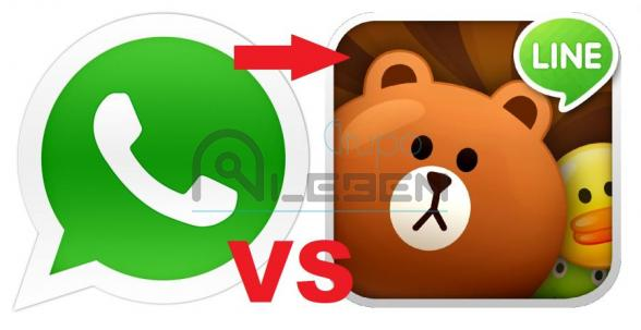 Whatsapp VS Line - Mensajería Instantánea