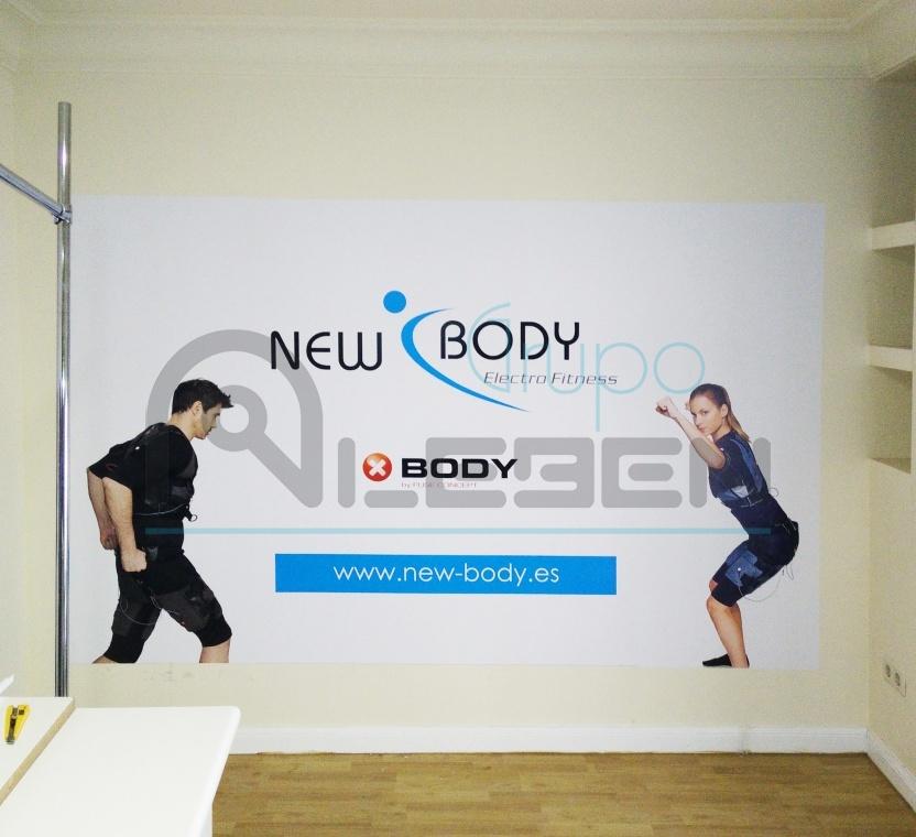 Dise o vinilos en pared para new body electrofitness aleben - Vinilos de diseno ...