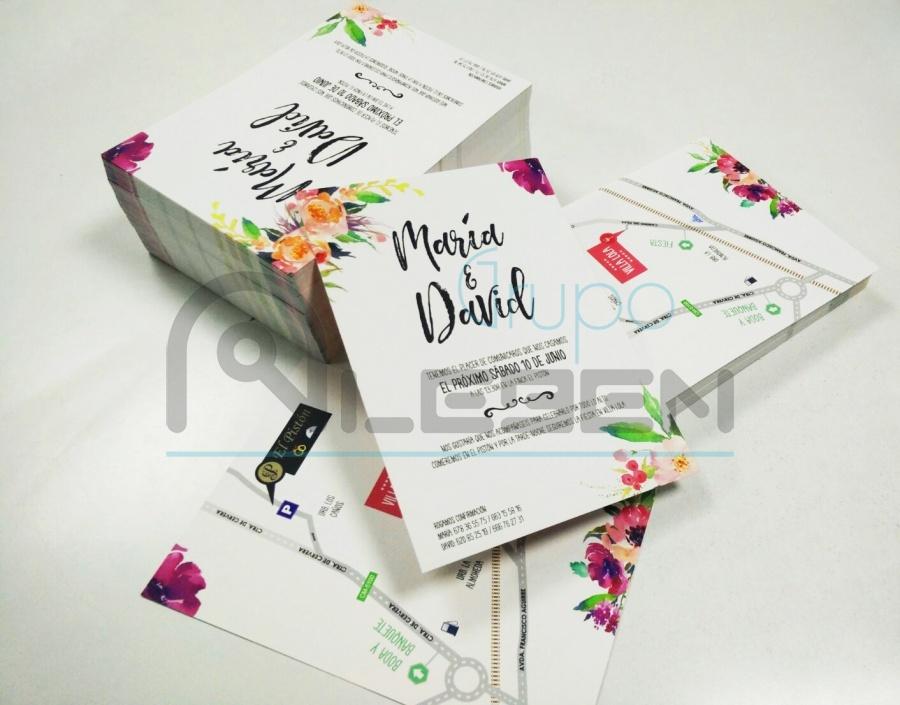 Tarjetas invitaciones de boda en a5 aleben telecom - Disenos tarjetas de boda ...