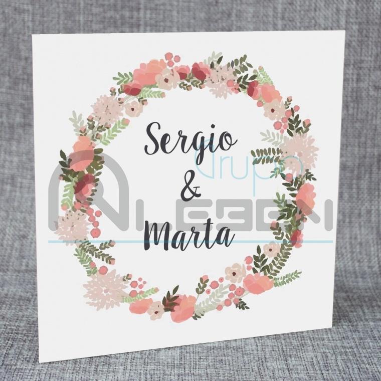 tarjetas invitaciones de boda en formato cuadrado